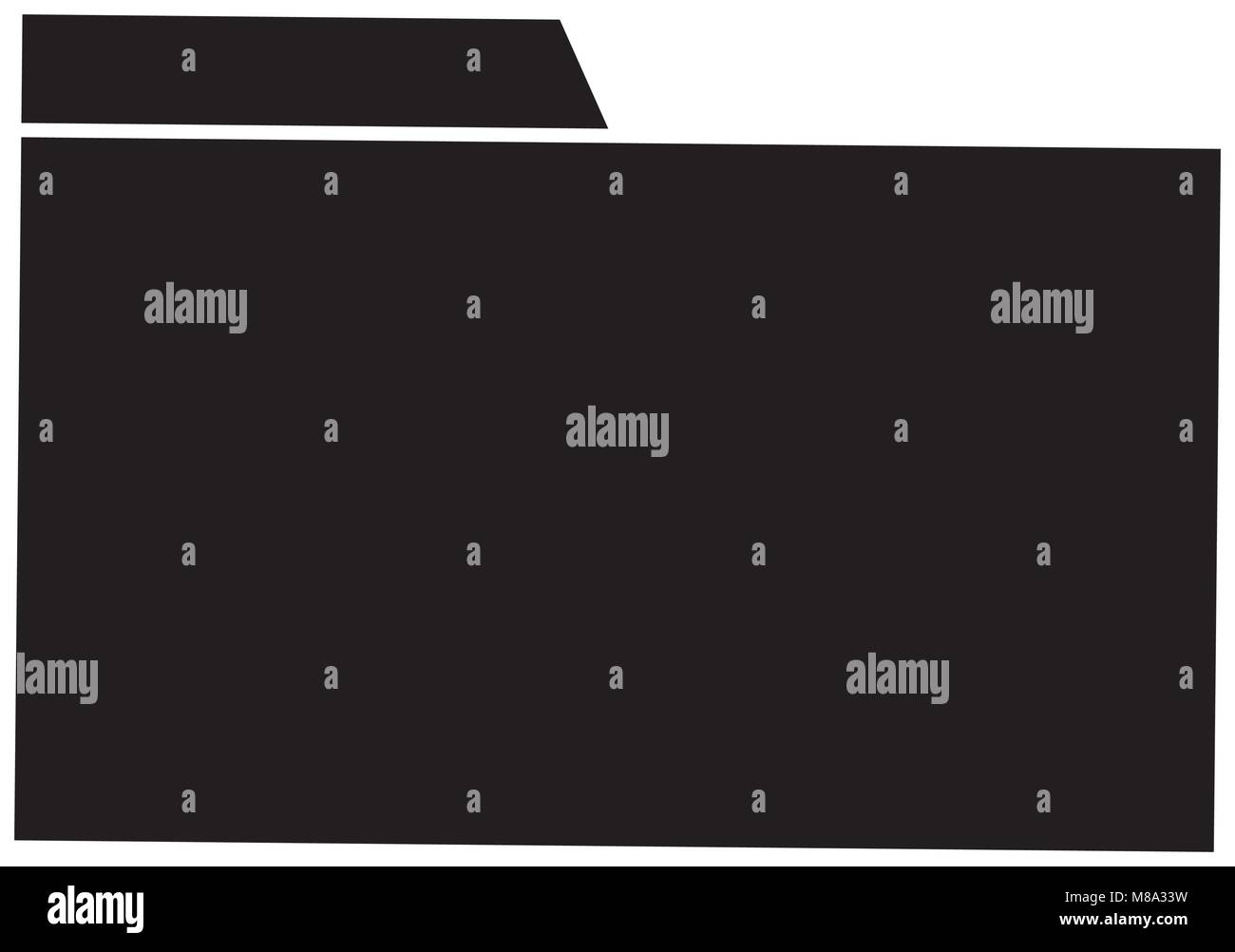 silhouette file folder archive to organize information - Stock Image