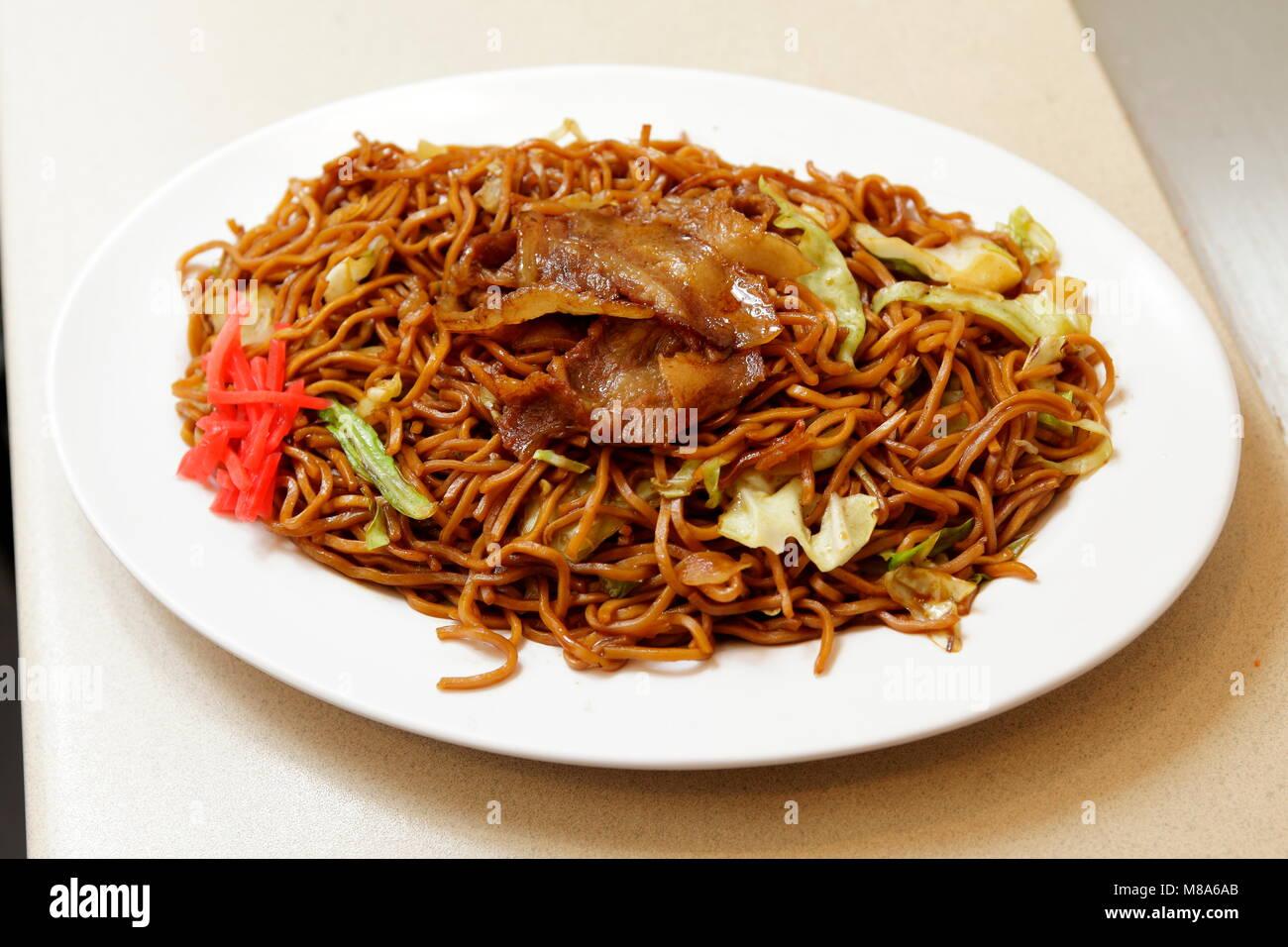 Yakisoba Seto Cuisine (Fried Noodles) - Stock Image