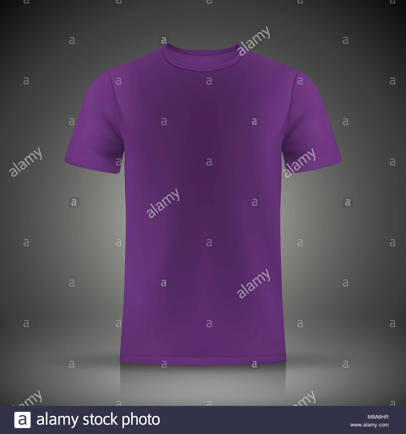 Purple T Shirt Template Isolated On Stock Photos & Purple T Shirt ...