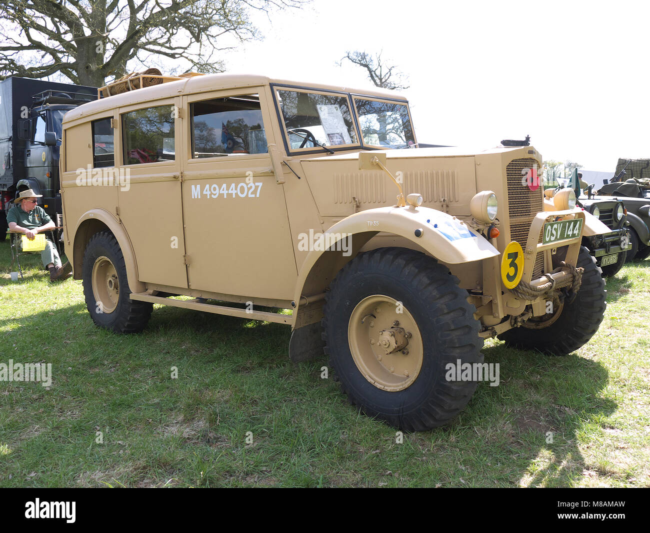 Vintage military Humber at Stradsett rally, Norfolk - Stock Image