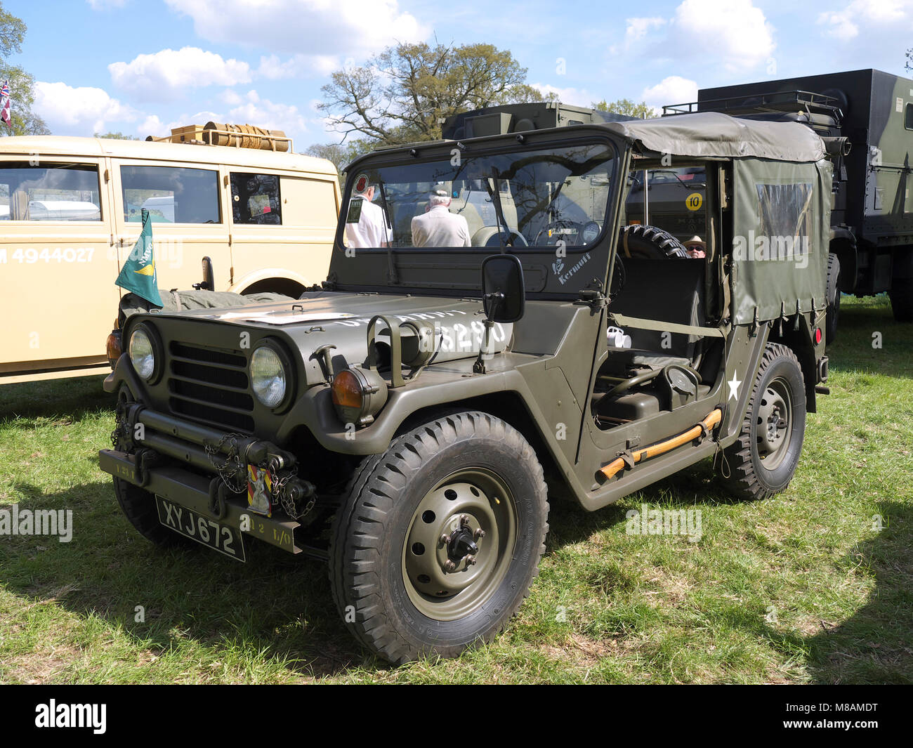 Vintage jeep stradsett rally, Norfolk - Stock Image