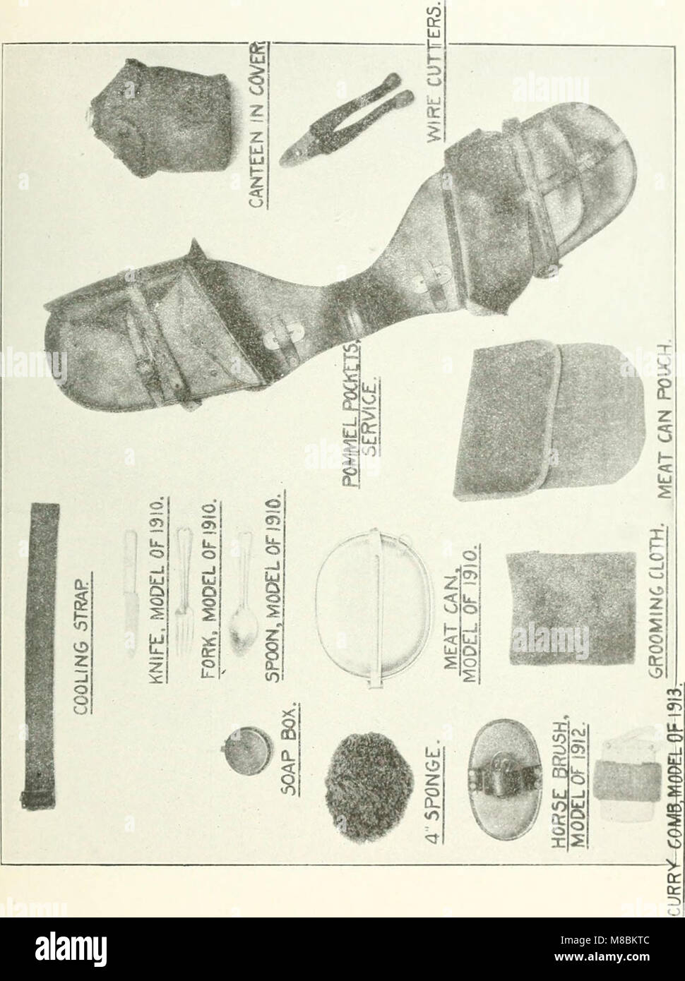Description and directions for the use and care of cavalry equipment, model of 1912 Oct. 5, 1914 (1918) (14583385198) - Stock Image