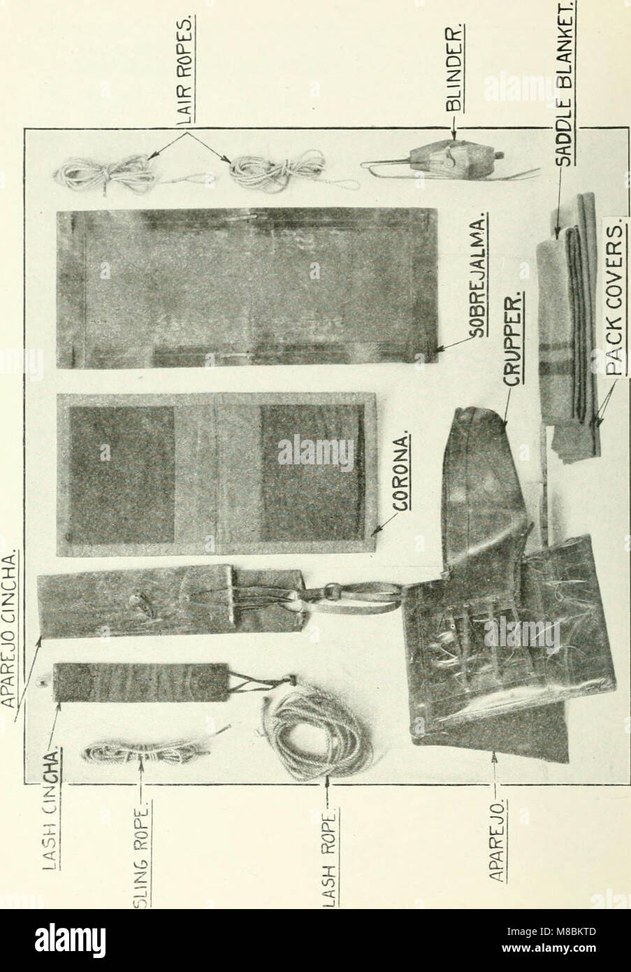 Description and directions for the use and care of cavalry equipment, model of 1912 Oct. 5, 1914 (1918) (14583390648) - Stock Image