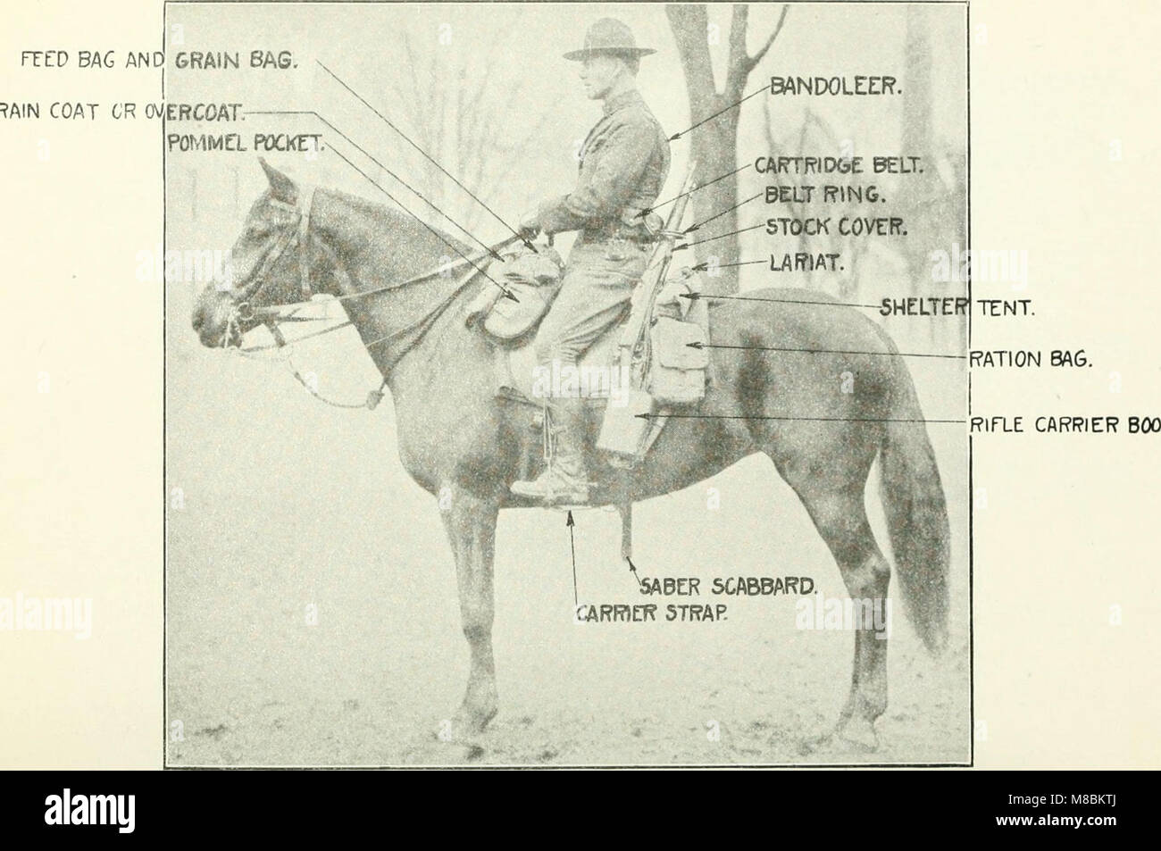 Description and directions for the use and care of cavalry equipment, model of 1912 Oct. 5, 1914 (1918) (14767661444) - Stock Image