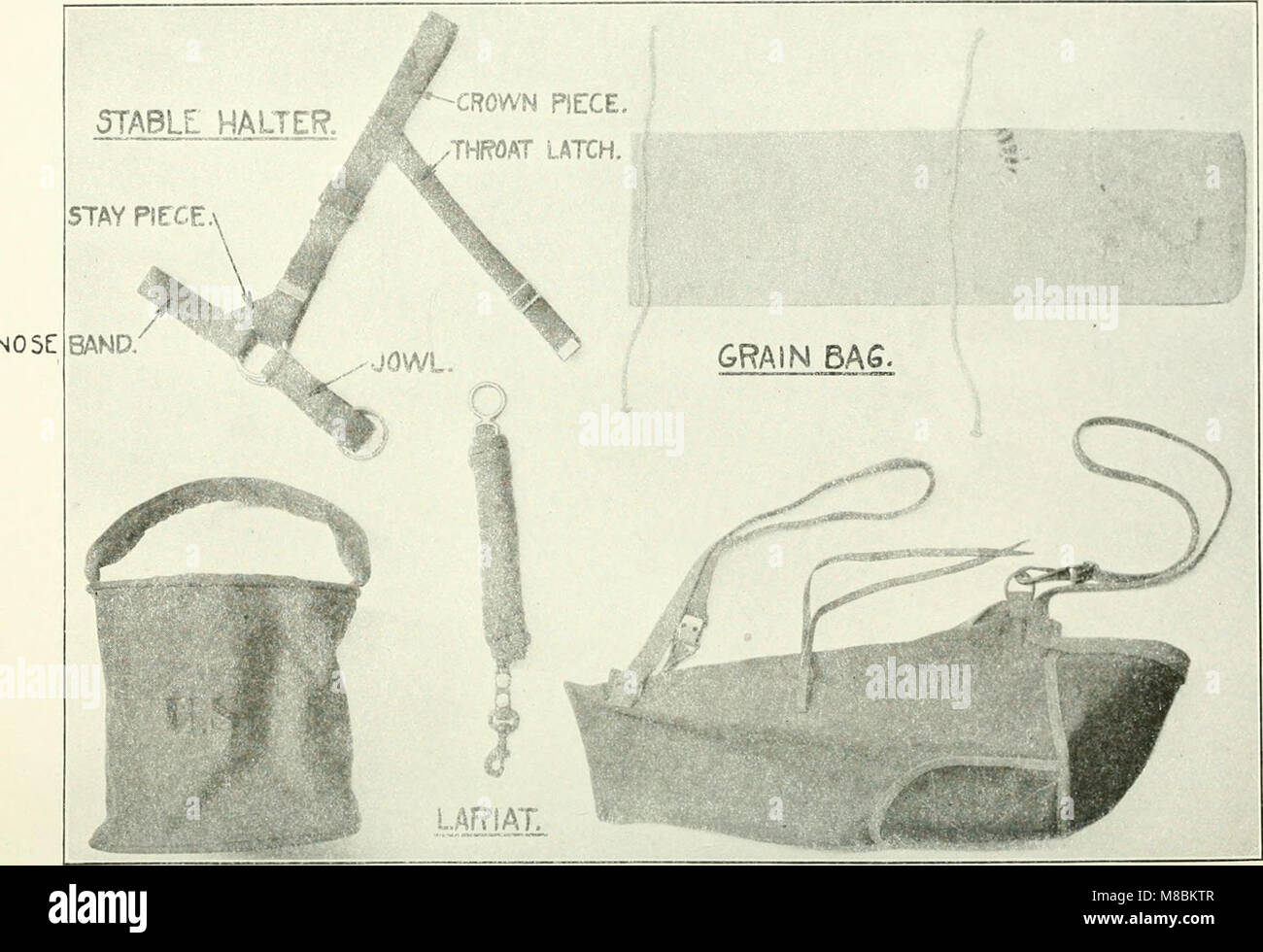 Description and directions for the use and care of cavalry equipment, model of 1912 Oct. 5, 1914 (1918) (14769695562) - Stock Image