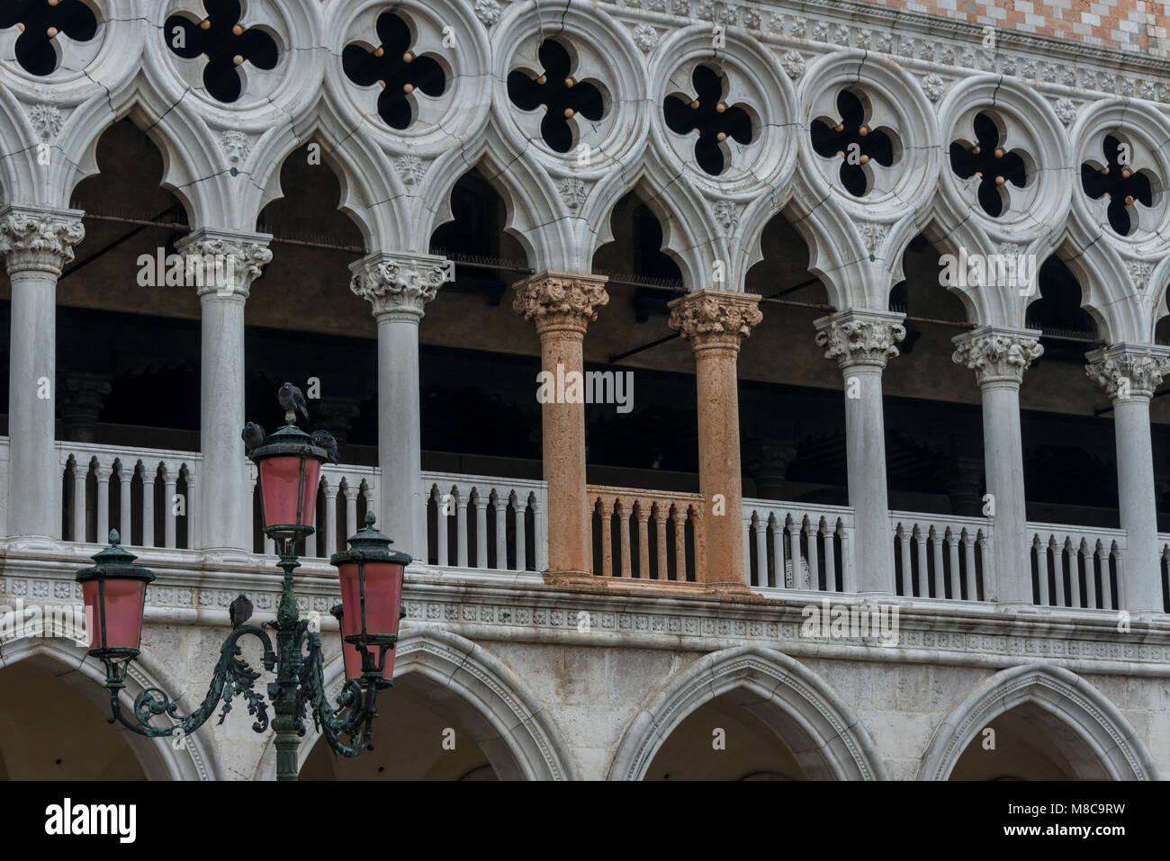 Impressionen aus Venedig - Palazzo Ducale Stock Photo