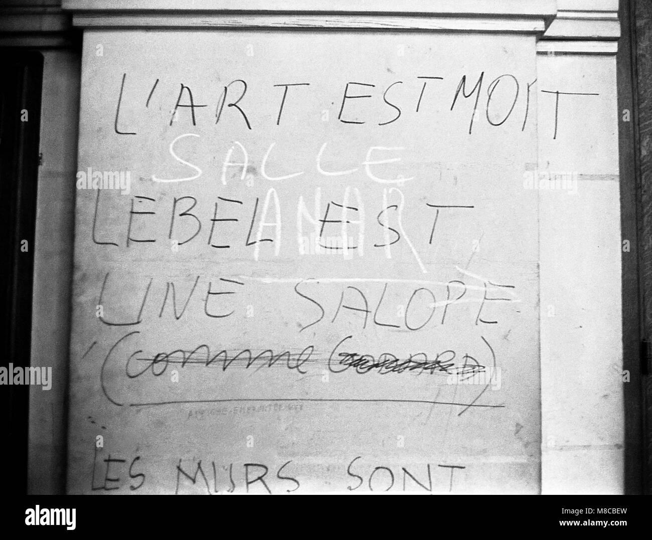 Philippe Gras / Le Pictorium -  May 1968 -  1968  -  France / Ile-de-France (region) / Paris  -  Slogan - Stock Image