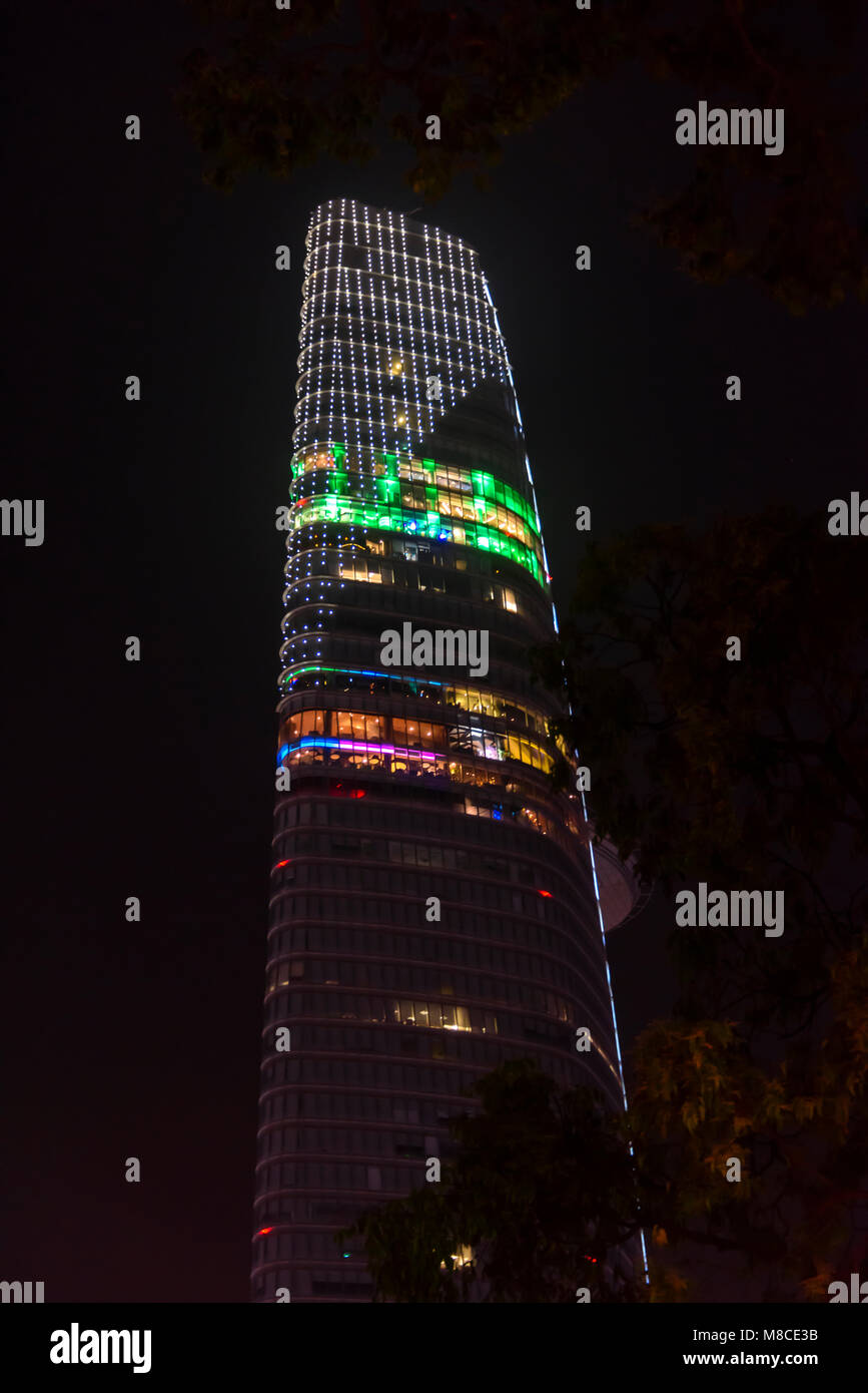 Bitexco Financial Tower, a 64 storey skyscraper in Ho Chi Minh City (Saigon) Vietnam - Stock Image