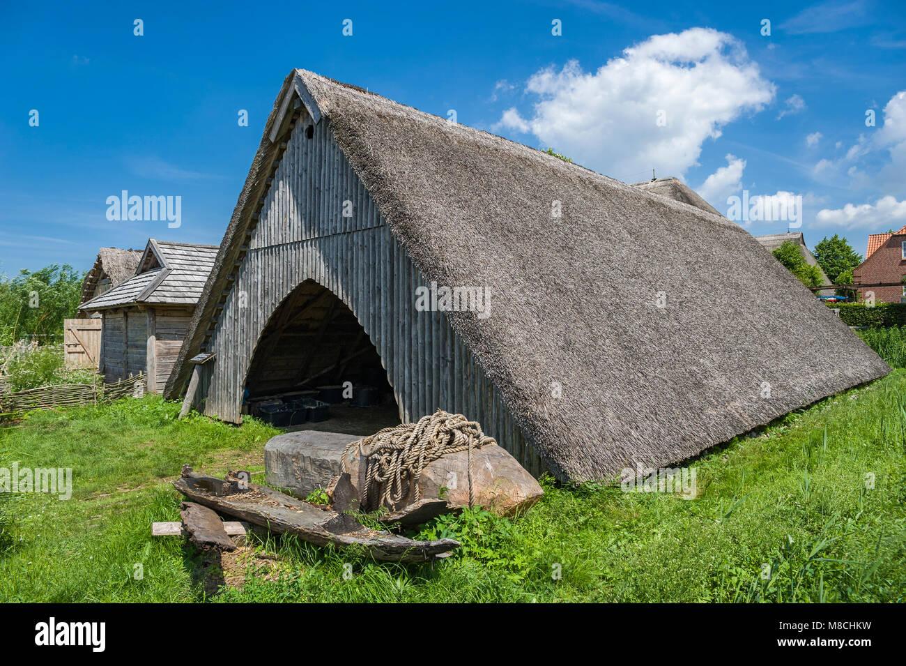 Wallmuseum, slavic village, Oldenburg in Holstein, Baltic Sea, Schleswig-Holstein, Germany, Europe - Stock Image