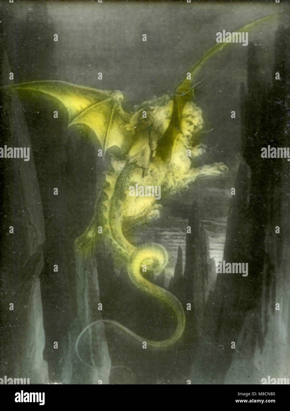 Canto XVII (17), Geryon, Dante's Inferno illustration by Dorè - Stock Image
