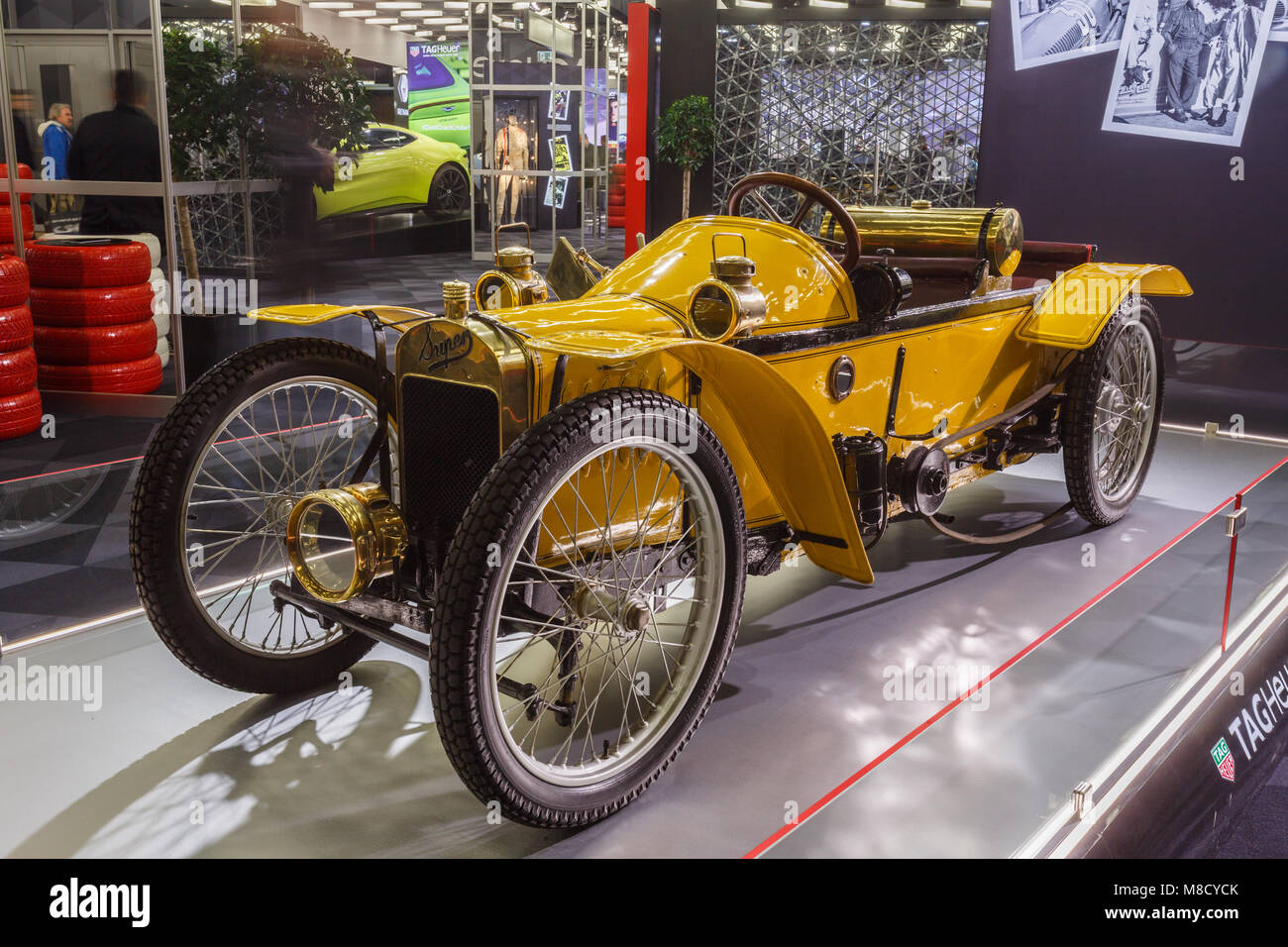 Super Levêque 1911 is the model displayed today is most certainly the last car remaining from the 26 manufactured - Stock Image