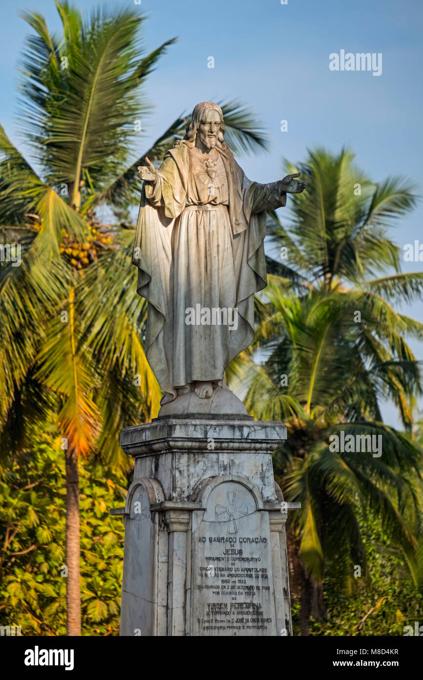 Jesus statue Sé Cathedral Old Goa India Stock Photo