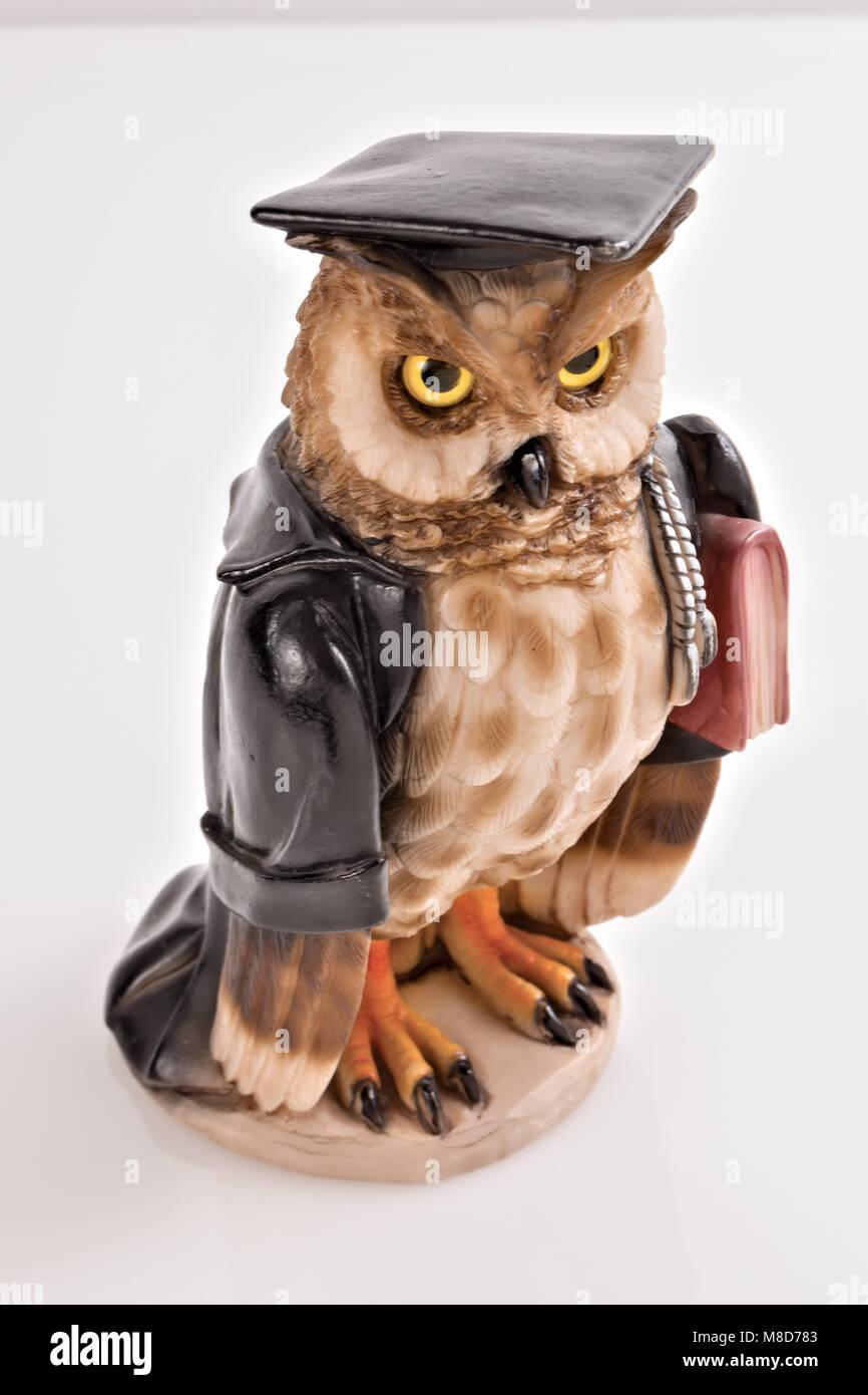 statuette owl idea magistrate 4 - Stock Image