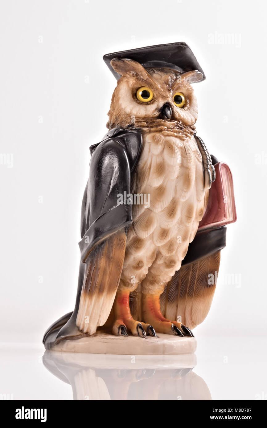 statuette owl idea magistrate 5 - Stock Image