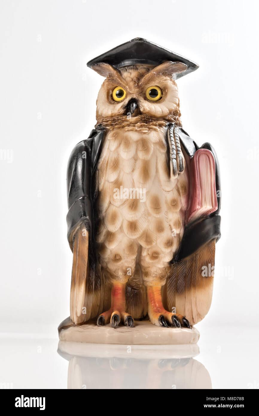 statuette owl idea magistrate 6 - Stock Image