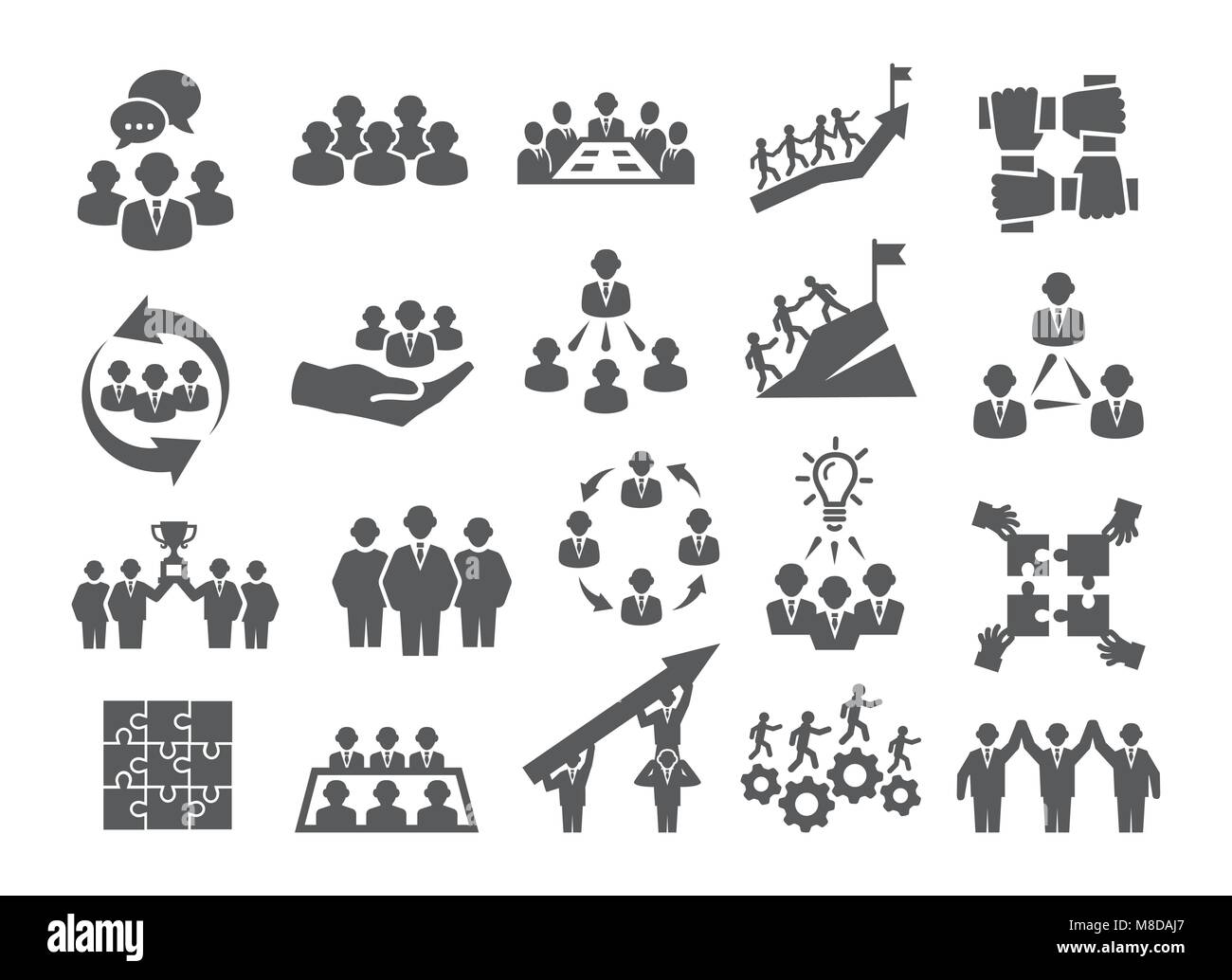 Team work icons - Stock Image