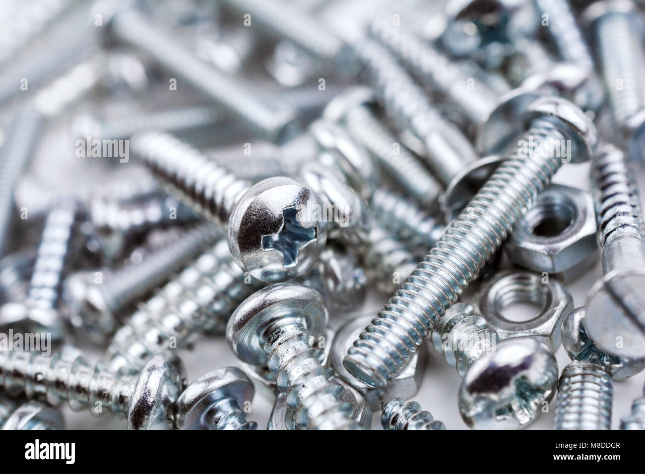 A Big Collection Of Various Iron Screws and Bolt Nuts #3 - Stock Image
