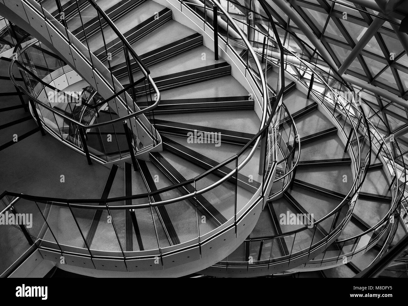 City Hall Stairs, London, Interior - Stock Image
