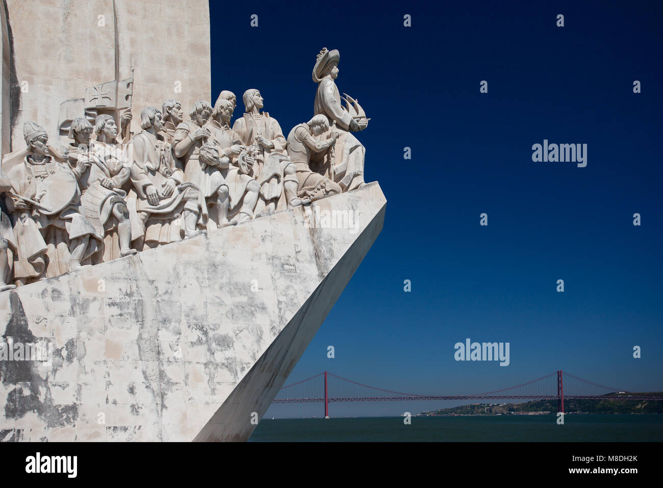 Lisbon - Monument to the Discoveries - Stock Image