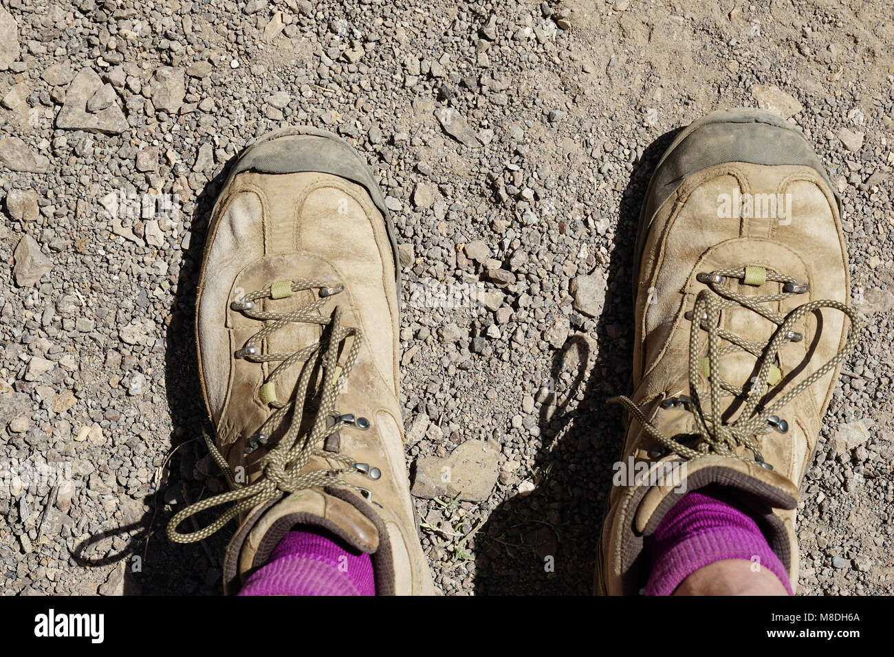 Old shoes, Santo Antao Island, Cap Verde - Stock Image