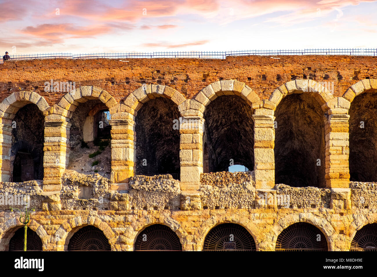 The beautiful roman amphitheater in the center of Verona, Italy Stock Photo