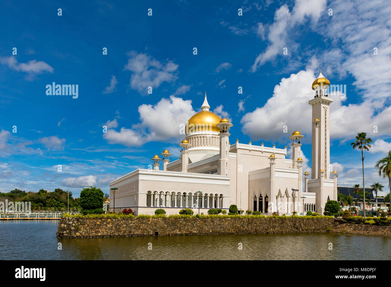 Brunei Darussalam Bandar Seri Begawan Sultan Omar Ali Saifuddien Mosque March 16, 2018 One of Brunei's most - Stock Image
