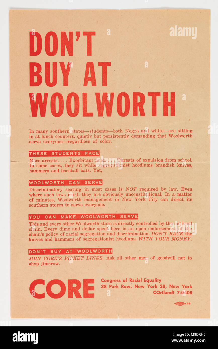 Boycott Woolworth Broadside - Stock Image