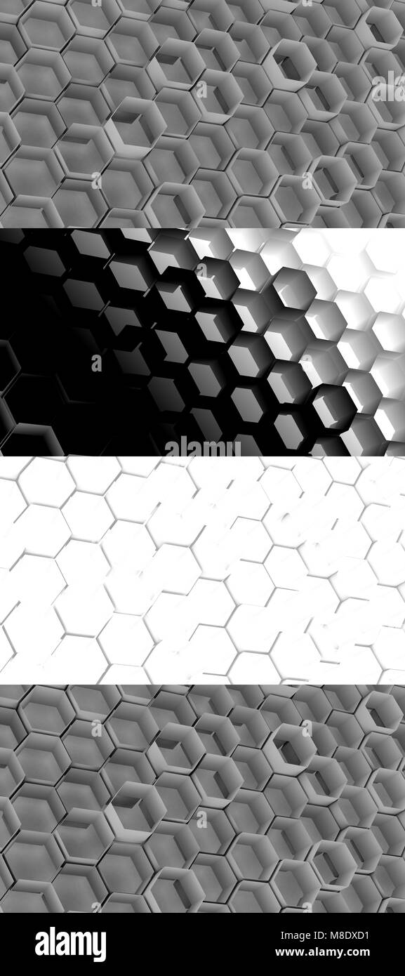 Cell Texture background with maps of global illumination, depth of the field and ambient occlusion - Stock Image
