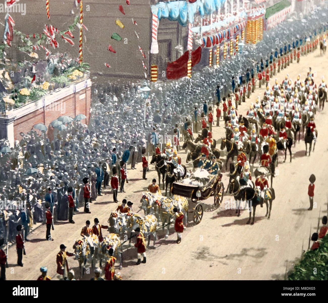Queen Victoria's Jubilee, London, 1887 - Stock Image
