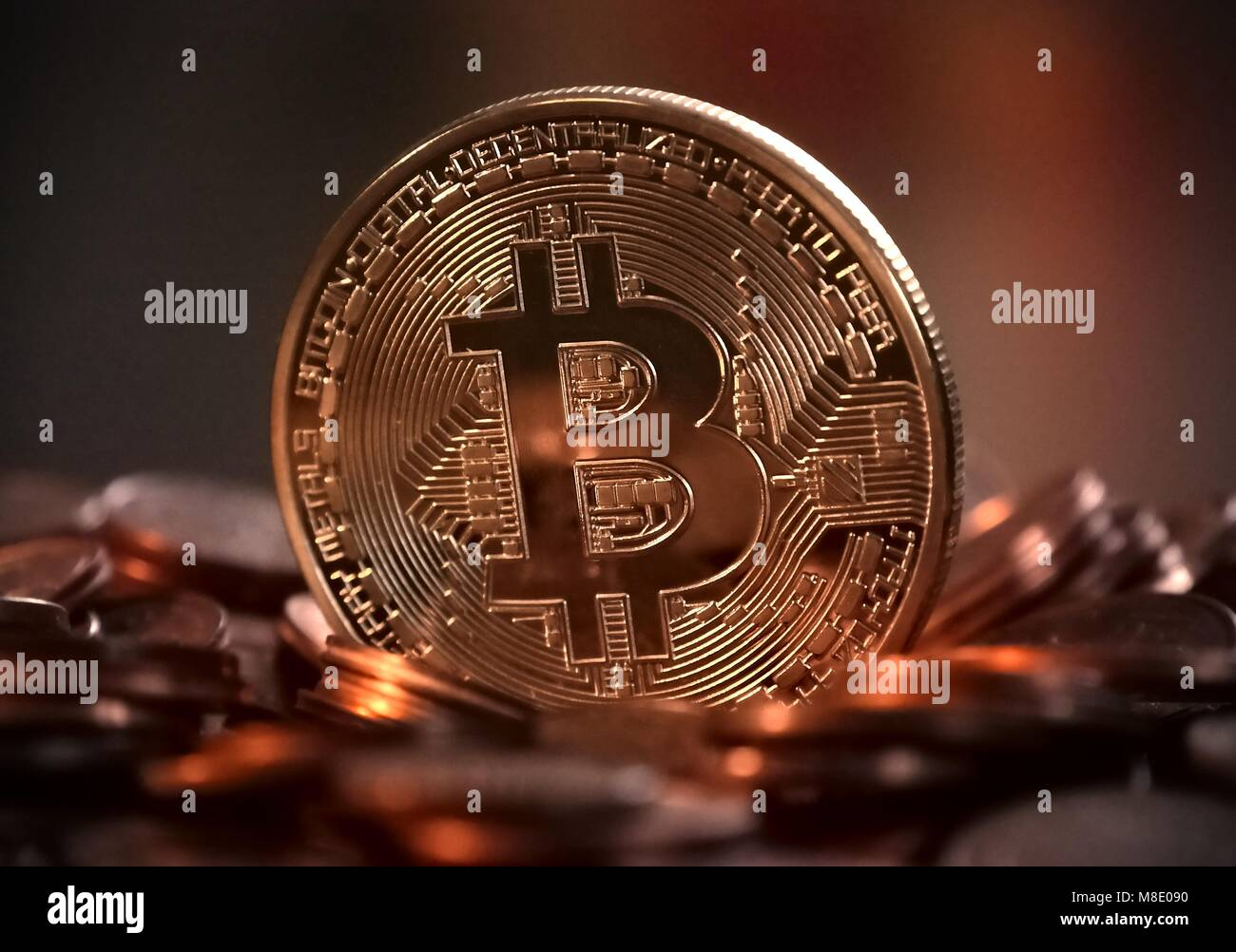 Bitcoin Digital Money Stock Photo