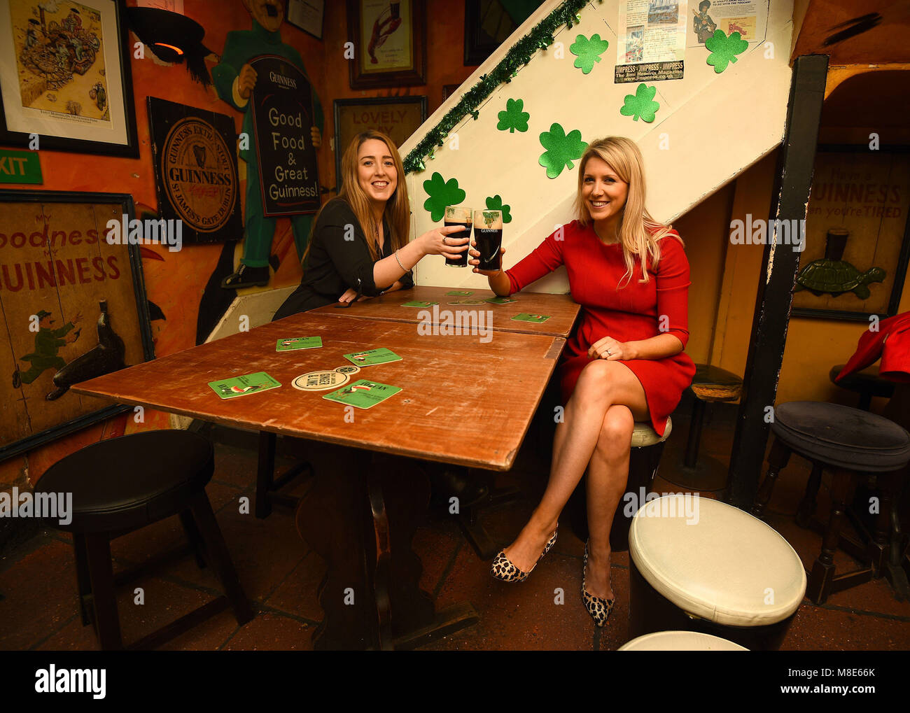 Martha Farrell And Sandra Truesdale In The Toucan Pub In Soho In Stock Photo Alamy