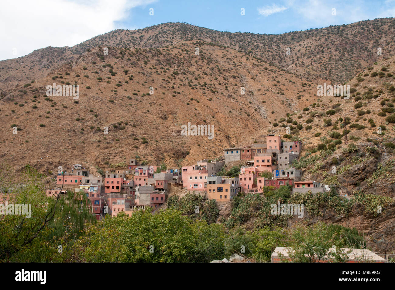 The village of Setti-Fatma nestled in the Atlas mountains in Morocco. Stock Photo