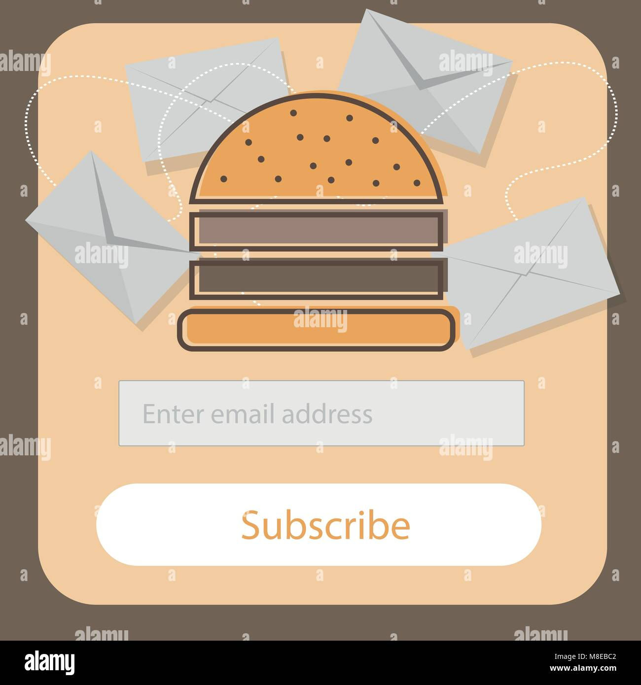 fast food burger coupon discount template flat design email stock