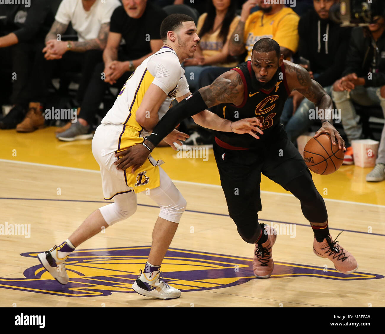 Lakers Vs Cleveland 2018 >> Los Angeles Ca Usa 11th Mar 2018 Cleveland Cavaliers