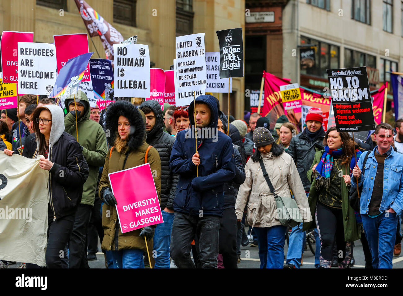 Glasgow, UK, 17 Mar 2018. Several thousand people, including local and national politicians along with prominent - Stock Image