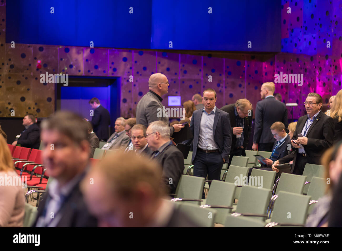 Stockholm, Sweden, March 17, 2018  Sweden Democrats (SD