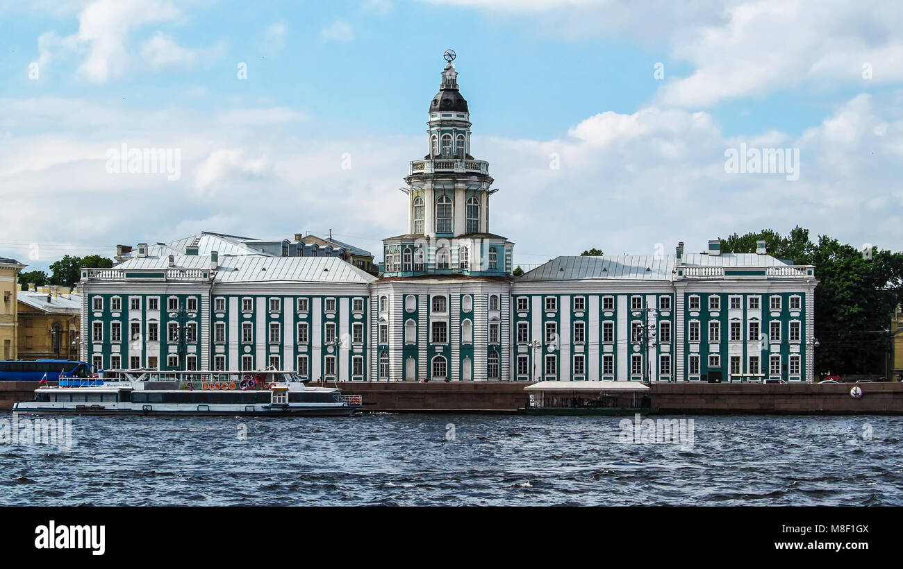 Russia, St. Petersburg - June 16, 2012: Museum of anthropology and Ethnography named after Peter the Great – Kunstkamera. - Stock Image