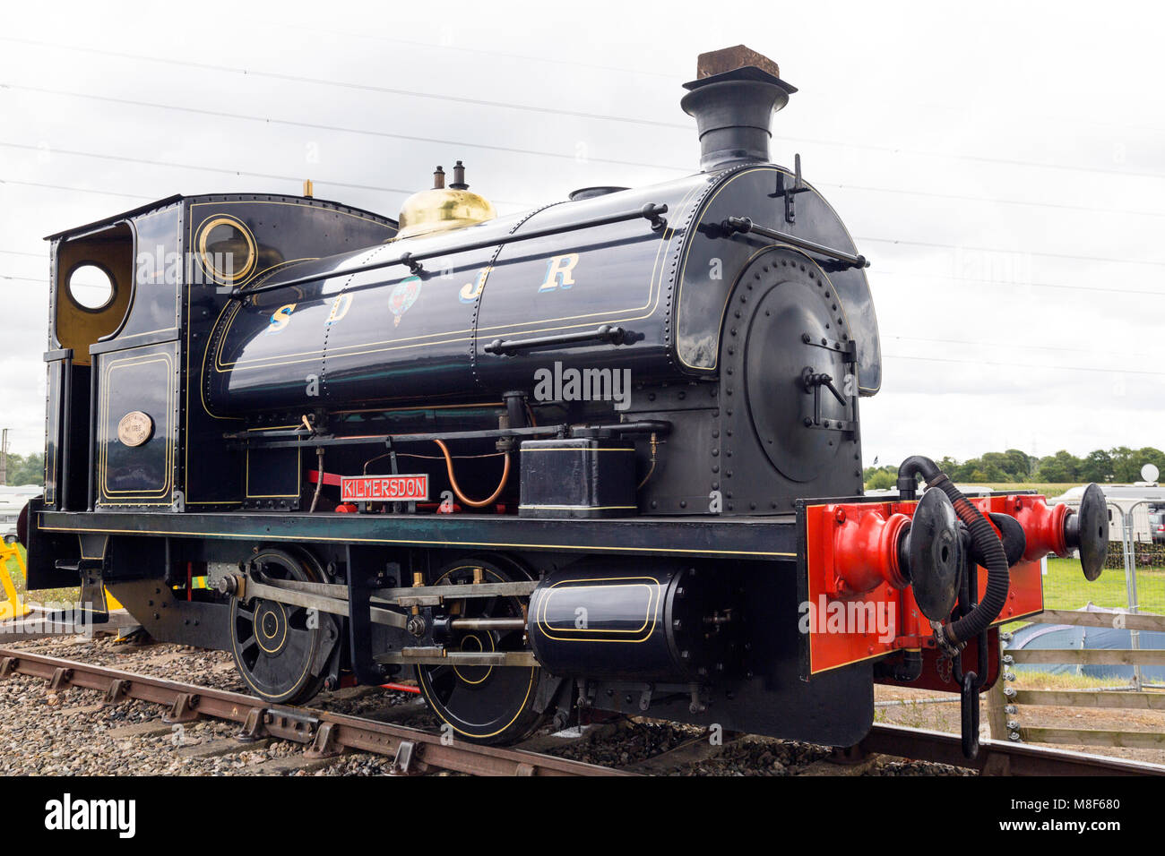 The former Somerset & Dorset Joint Railway 0-4-0 saddle tank engine 'Kilmersdon' at the 2017 Norton - Stock Image