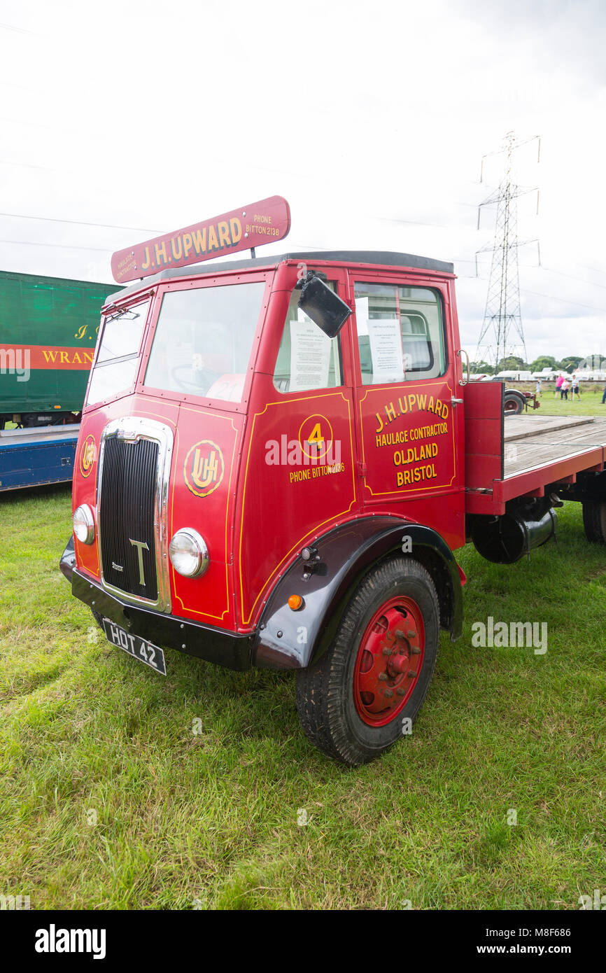 A restored 1949 Thornicroft Sturdy lorry at the 2017 Norton Fitzwarren Steam Rally, Somerset, England, UK - Stock Image
