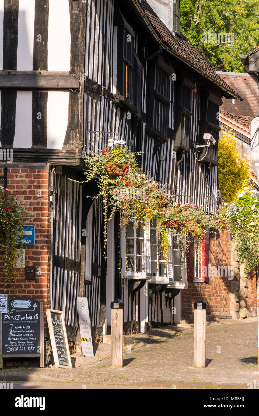 Church Lane Ledbury Herefordshire England - Stock Image