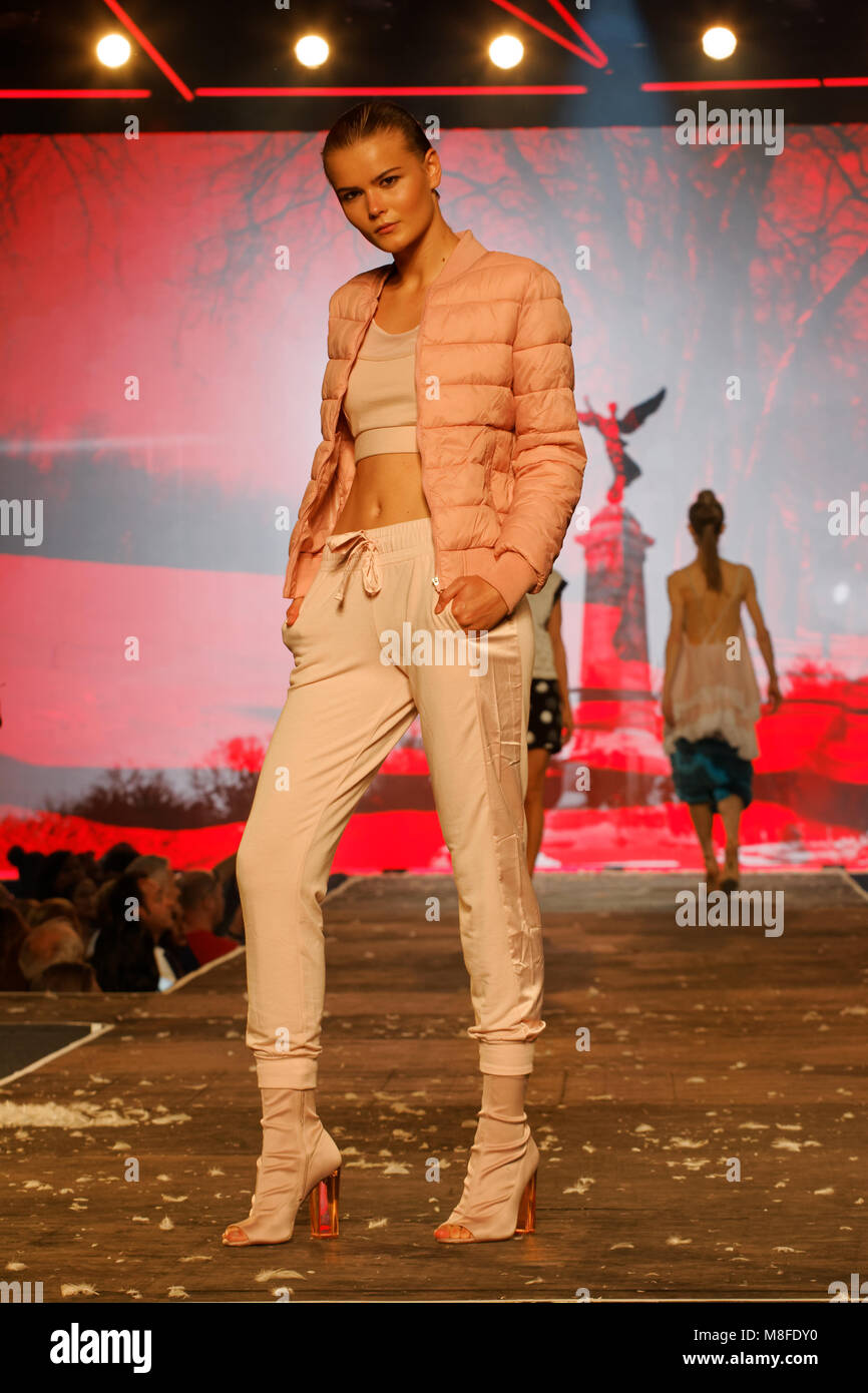 Quebec,Canada. Montreal fashion shows - Stock Image