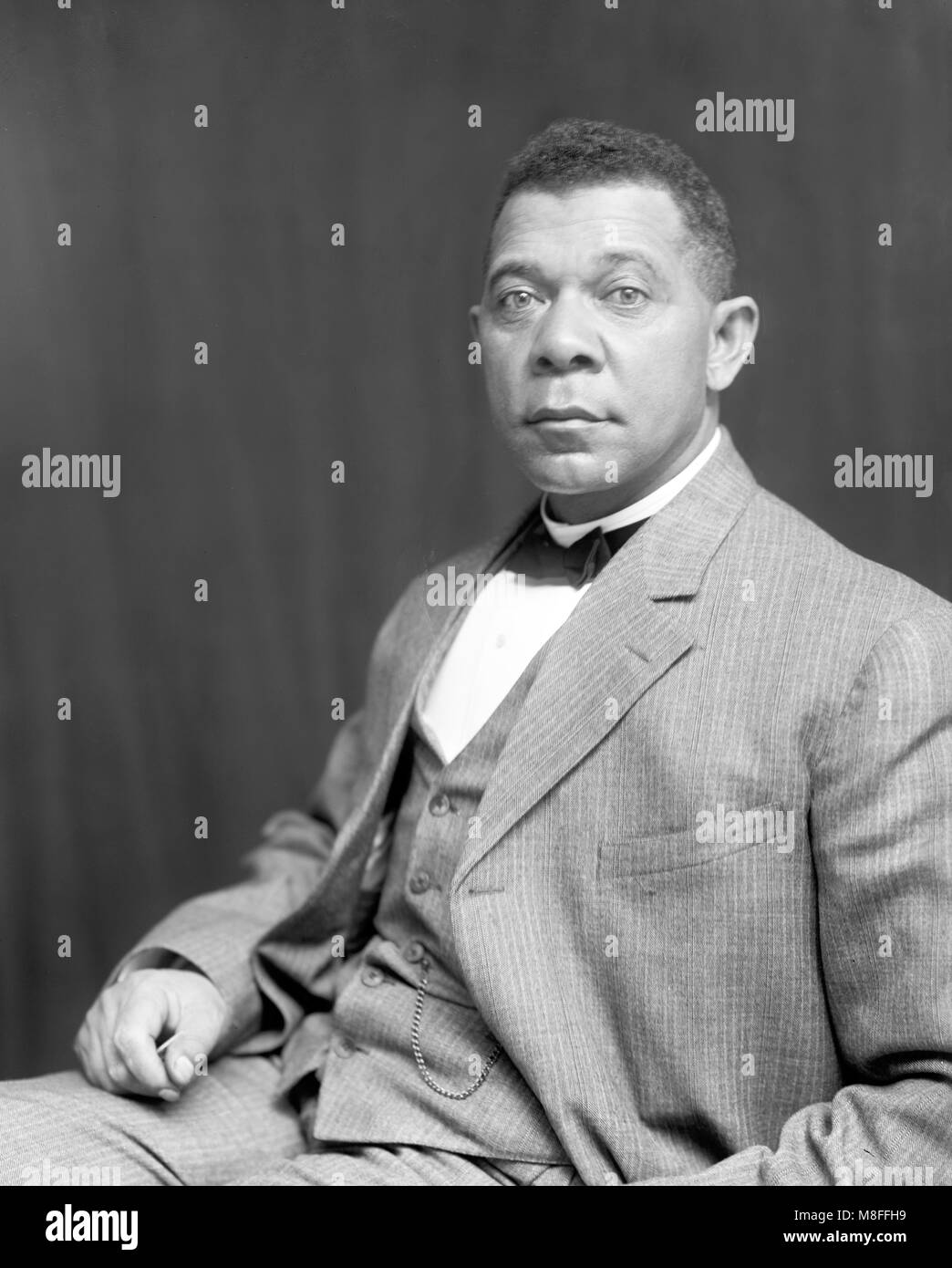 Booker T Washington. Portrait of the American author, educator and civil rights leader Booker Taliaferro Washington - Stock Image