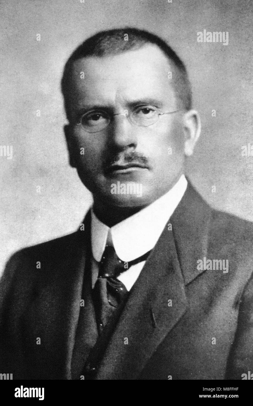 Carl Jung. Portrait of the Swiss psychiatrist Carl Gustav Jung (1875-1961). - Stock Image