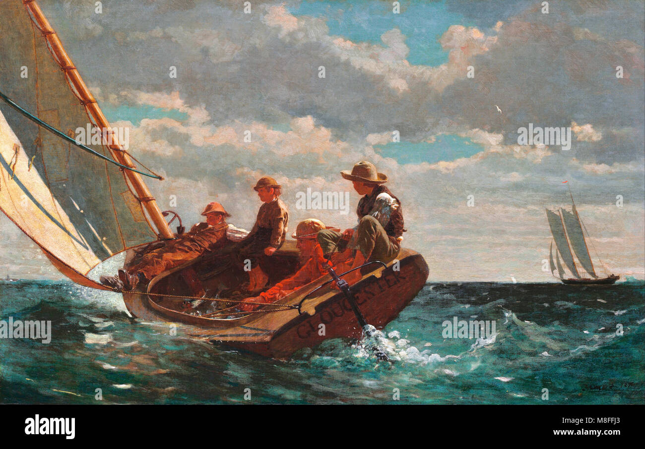 Breezing Up (A Fair Wind) by Winslow Homer (1836-1910), oil on canvas, 1873-6 - Stock Image