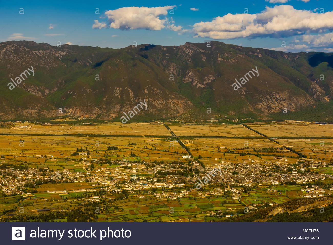 Villages near Lijiang, Yunnan Province, China. - Stock Image