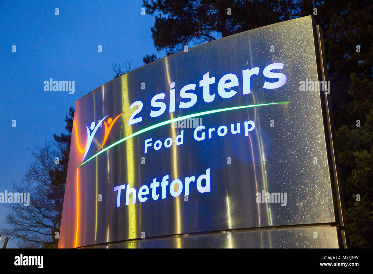 The 2 Sisters Food group factory in Thetford, Norfolk, UK. The factory produces added value meals, mainly from chicken, - Stock Image