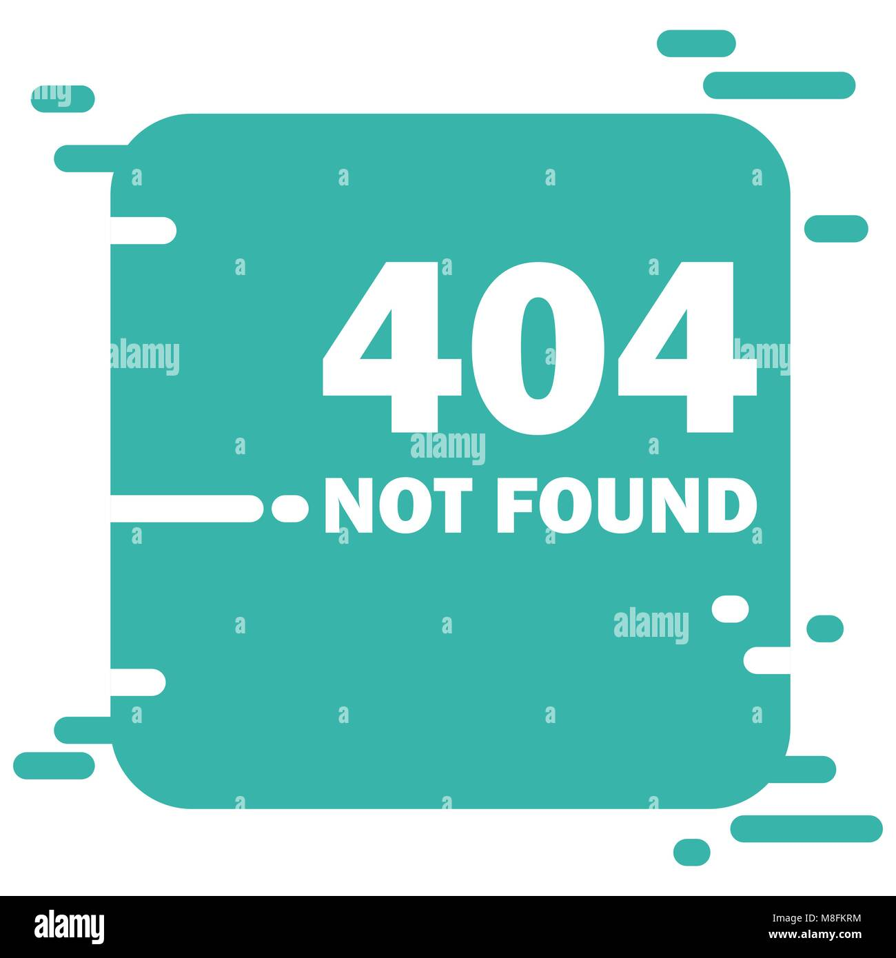 Error 404 page layout vector design. Website 404 page creative concept. 404 web page error creative design. Modern - Stock Image
