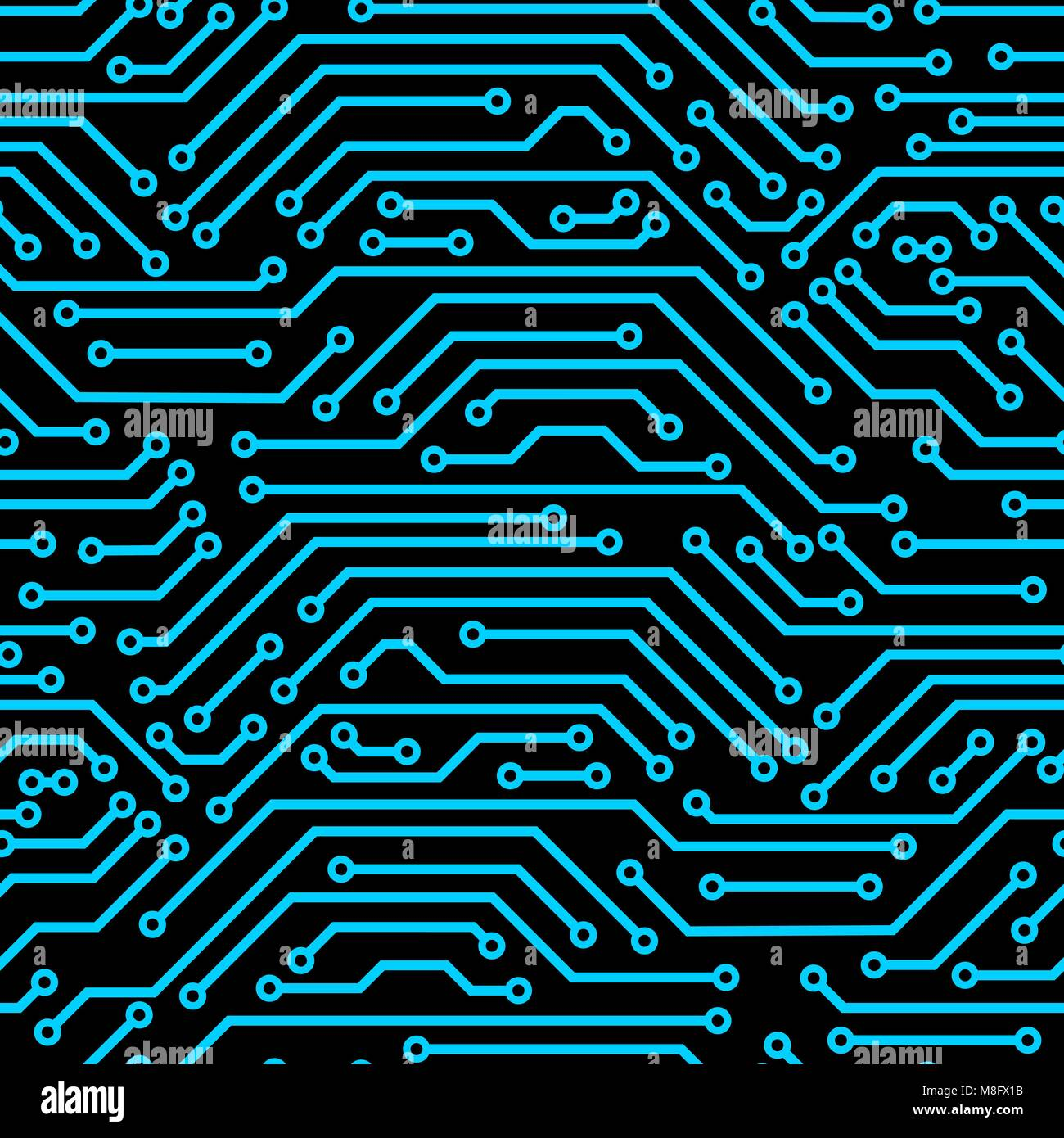 Circuit board seamless pattern. Background of microchip elements ...