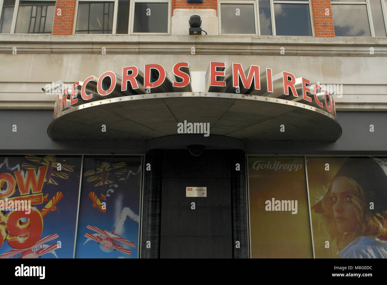 16/04/2008. EMI Records head office, Brook Green, London. Front door and logo. - Stock Image
