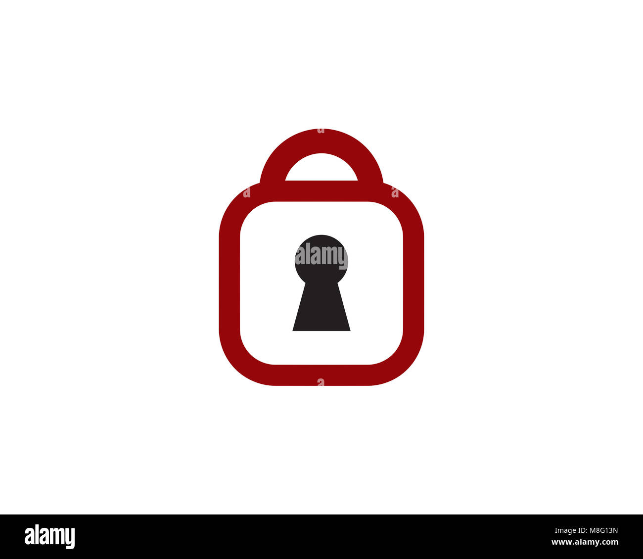 is a symbol that symbolizes security - Stock Image